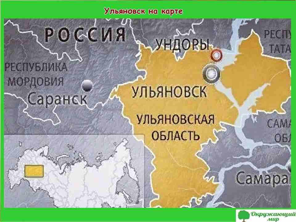 """Проект """"Мой родной город Ульяновск"""" 2 класс"""